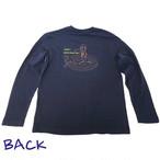 ロングTシャツ Surfingバージョン ネイビー メンズ サムネイル