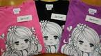 水森亜土のおもちゃ箱画廊オリジナル半袖Tシャツ「オブリガード」