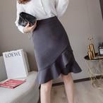 【bottoms】スウィート女っぽさハイウエストイレギュラースカート 22991978