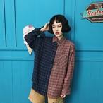retro half color shirts 2463