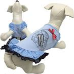 1。puppyangel【正規輸入】犬 服 ワンピース 袖なし ドット 春 夏物 S