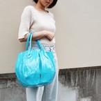 【豚革】エナメルバルーントートバッグ Lサイズ 日本豚革 レザーエナメル ショルダーバッグ 軽い カラフル 170093 <6色展開>