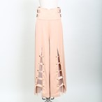 Belt Tulle Wide Pants
