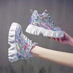 【shoes】切り替え配色ファッションハイヒールスニーカー27110820