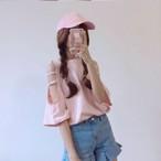 【新作10%off】open shoulder blouse 2457