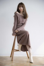 Wool and Cashmere Blend Wholegarment Knit Dress