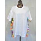 【 RehersalL 】side frill Tshirt(White1) /【リハーズオール】サイドフリルTシャツ(ホワイト1)