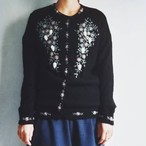 euro vintage beaded knit