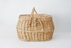 vintage basket with lid / 古い蓋付きかご