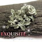 英国 EXQUISITE ★イングリッシュローズ ヴィンテージ マルカジット ブローチ,薔薇,1950s,ROSE