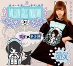 【再入荷】ミリオン・ガールズ・インブルーム!Tシャツ/Black
