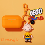 【注文商品】Simple Color Cute Cartoon 3D Keychain Airpods Proケース【Orange】