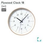 KATOMOKU plywood clock 18 km-110NARCS ナチュラル SKP電波時計