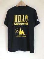 hs-34 ACTIVE 『HELLO』 T-SHIRT ・ブラック