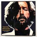 Eric Clapton / エリック クラプトン「ポップアートパネル Keetatat Sitthiket」ポップアートフレーム ポップアートボード グラフィックアート ウォールアート 絵画 壁立て 壁掛けインテリア 額 ポスター プレゼント ギフト インスタ映え 音楽 キータタットシティケット