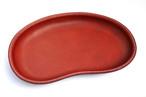 豆型レザートレイ(ワインレッド)[革・レザー・ペントレイ・キャッシュトレイ・マネートレイ・メガネトレイ]