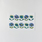 ポストカード 青い花