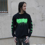 Dripping Logo Long Sleeve / Neon green
