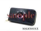 【ご予約オーダー品】eye 2round fastener wallet / reptiles/gray(snake)