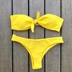Bikini♡フロントタイバンドゥビキニ イエロー GSB18S073YEL