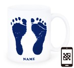 ai mug-white   A-type (NAVY) QRコード付き