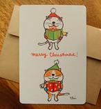 クリスマスグリーティングカード「プレゼント・ボックス」封筒付