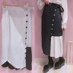 【ManonMimie】ストライプ巻きスカート