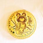 【ロシア】 ミーシャ 陶器の壁掛け (アーチェリー) こぐまのミーシャ 旧ソ連