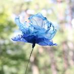 カラフルオーガンジーのアートフラワー【造花】|スカイブルー①