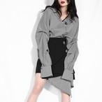 チェックアシンメトリー2ピースセットアップ 韓国ファッション