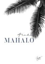 MAHALOVE 作品名: Mahalo blue  A4ポスターアルミフレームセット【商品コード: ml-mahalo blue 】