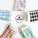 «即納» natural gingham check socks ナチュラル ギンガムチェック ソックス ママサイズあり