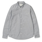 Carhartt (カーハート)L/S BUTTON DOWN POCKET SHIRT - Black サイズXS