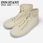 #401 HI-CUT CANVAS natural (white sole) INN-STANT インスタント 【消費税込・送料無料】