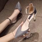 【shoes】ラメ入りセクシー好感度アップ素敵見えパンプス 22580149