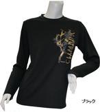 PE-711L秋冬レディースロングスリーブTシャツ(ブラック)