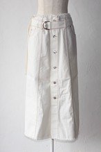 【SAYAKADAVIS×SERGE de bleu】Denim Button Skirt-white