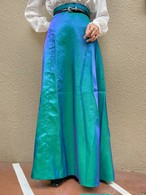 (TOYO) aurora long flare skirt