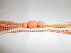 珊瑚色帯留(三分紐付) coral color obi sash clip