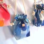 handbag / オーダーメイド / 色が選べる手染めの帆布きんちゃくバッグ