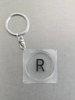 キーホルダー【R】透明丸