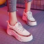 【shoes】カジュアル丸トゥPU厚底スニーカー14944128