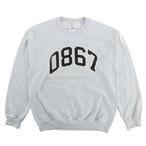 0867 / Sweatshirt / Arch / Logo / Ash