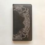 アンティークブラック 手帳型スマホケース