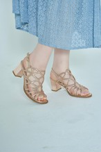 Bone Glitter Sandals