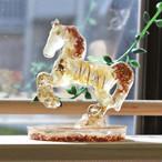 馬型 オルゴナイト アラゴナイト&シトリン 置物 財運をもたらす馬モチーフ