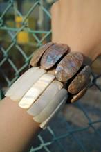 Shell plate bracelet