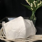 すずらん刺繍マスク(オフホワイト 単色刺繍)予約販売