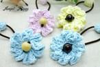 手編み 小さめお花のヘアゴム