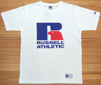 RUSSELL ATHLETIC Bookstore Jersey Print Crew Neck TEE ホワイト ラッセルアスレティック Tシャツ ロゴ プリント カットソー 半袖 RC-1001PT